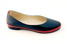 Женские синие балетки Арт. 430-31