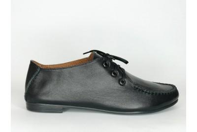 Женские черные кожаные туфли Арт. 439-01