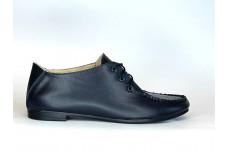 Женские синие кожаные туфли Арт. 439-02