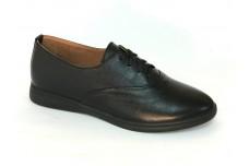 Женские черные кожаные туфли Арт. 542-01