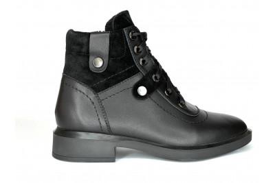 Женские черные ботинки Арт. 552-01