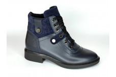 Женские синие ботинки Арт. 552-02