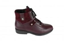 Женские бордовые ботинки Арт. 552-б