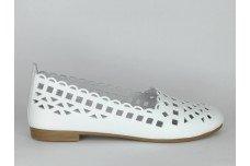Женские белые балетки Арт. 1322-05