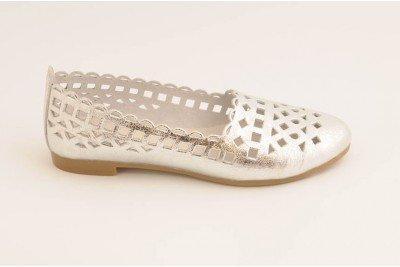 Женские балетки серебро Арт. 1322-48
