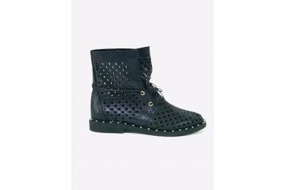 Женские летние черные ботинки Арт. 1405-10