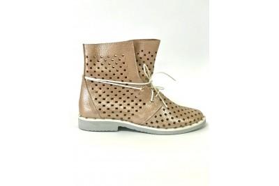 Женские летние ботинки пудра Арт. 1405-21