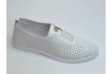 Женские белые кожаные кеды Арт. 2002-05