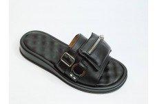 Летние женские кожаные шлепки с карманом Арт. 2127-01