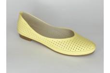Женские желтые балетки Арт. 405-л