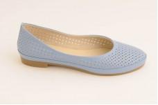Женские голубые балетки Арт. 405-08