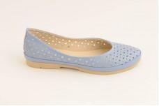 Женские голубые балетки Арт. 410-08