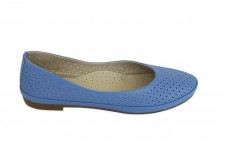 Женские голубые балетки Арт. 415-08