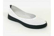 Женские белые кожаные туфли Арт. 505-25