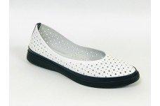 Женские белые кожаные туфли с перфорацией Арт. 510-25