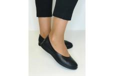 Женские черные кожаные туфли с перфорацией Арт. 515-01