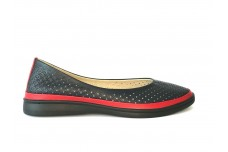 Женские синие кожаные туфли с перфорацией Арт. 515-31