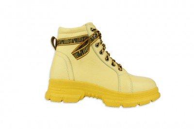 Женские желтые ботинки Арт. 1223-ж