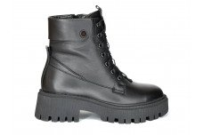 Женские зимние черные ботинки из натуральной кожи Арт. 1257-01