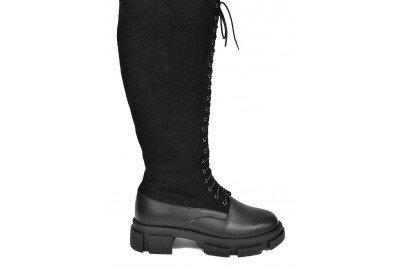 Женские черные сапоги Арт. 1276-96