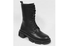 Женские черные ботинки Арт. 1296-01
