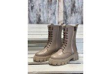 Женские бежевые зимние ботинки Арт. 1298-100
