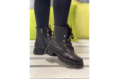 Женские черные зимние ботинки Арт. 1309-01