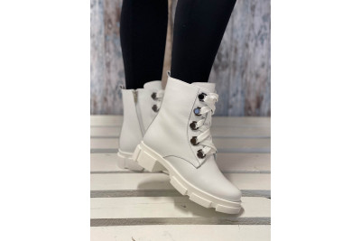 Женские белые зимние ботинки Арт. 1309-05