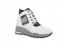 Женские белые ботинки Арт. 1339-05