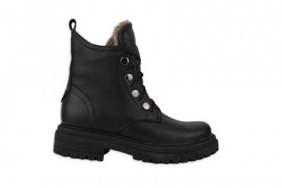 Женские черные ботинки Арт. 1640-01