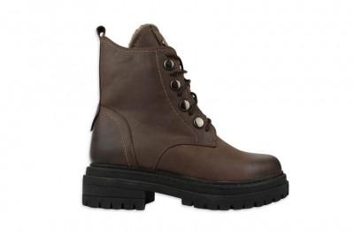 Женские коричневые ботинки Арт. 1640-15