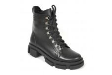 Женские черные ботинки Арт. 1645-01