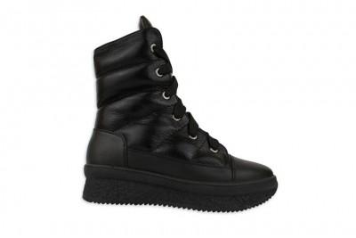 Женские черные ботинки Арт. 1676-01