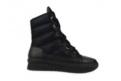 Женские черные ботинки Арт. 1676-10