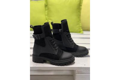 Женские черные зимние ботинки Арт. 2329-01