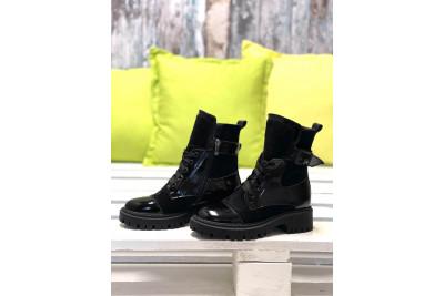 Женские черные зимние ботинки Арт. 2329-01л