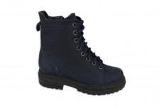 Женские синие ботинки Арт. 419-02